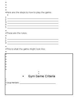 Design a Gym Game