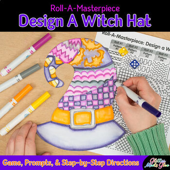 Design a Witch Hat Game {Halloween Activities and Art Sub Plans for October}