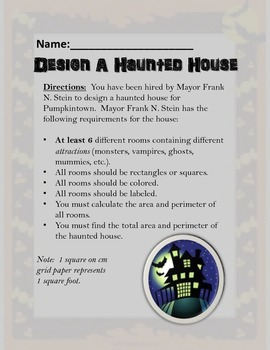 Design a Haunted House Area and Perimeter Project 4.MD.3