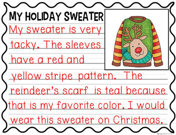 Design a Holiday Sweater: Opinion and Descriptive Writing Activities
