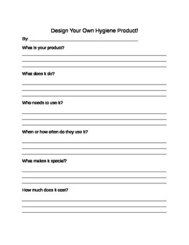 Design a Hygiene Product