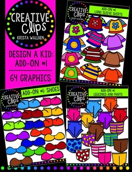 Design a Kiddo: Add-On Pack #1 {Creative Clips Digital Clipart}