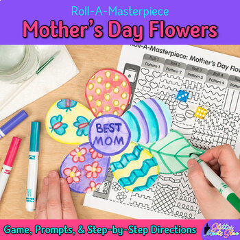 Design a Mothers Day Flower Game for Moms: Art Sub Plans and Writing Prompts
