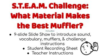 Design a Muffler | Science of Sound | STEM/STEAM Challenge with Recording Sheet