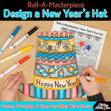 Design a New Year's 2018 Hat Game {Resolution Craftivity & Art Sub Plans}