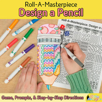 First Week of School | Design a Pencil Game | Back to School Ideas, Art Sub Plan