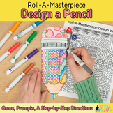 Distance Learning Art Project: Design a Pencil Game, Sub Plan, & Writing Prompts