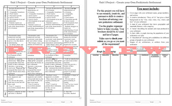 Design a Prehistoric Settlement - Brochure Project - PDF