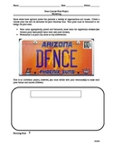 Sports Marketing & Business: Design a Promotional License Plate Activity