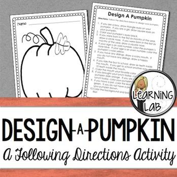 Design a Pumpkin (Following Directions)