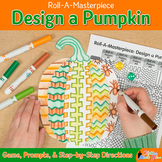 Distance Learning Art Project: Design a Pumpkin Halloween Game & Writing Prompts