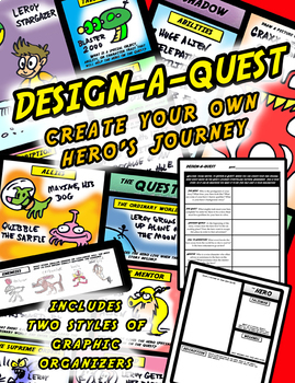 Design-a-Quest: Making Your Own Hero's Journey Graphic Organizer Bundle