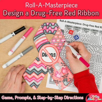 Design a Drug-Free Ribbon Game {Red Ribbon Week Activities and Art Sub Plans}