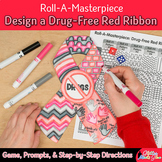 Red Ribbon Week Activity | Design a Drug Free Red Ribbon Directed Drawing Game