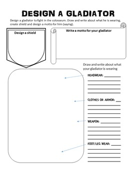 Design a Roman Gladiator: A Rome Activity - Create your own Gladiator