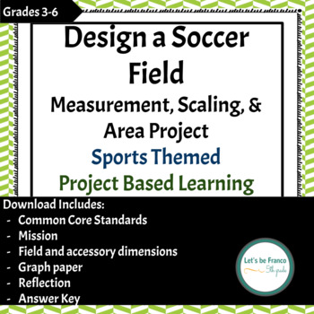 Design a Soccer Field  Measurement, Scaling, & Area Project Sports Themed PBL