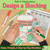 Design a Stocking Game {Christmas Activities and Art Sub P