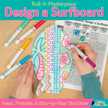 Design a Surfboard Game   Summer Activities and Art Sub Plans for August Fun