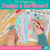 Design a Surfboard Game {Summer Activities and Art Sub Pla