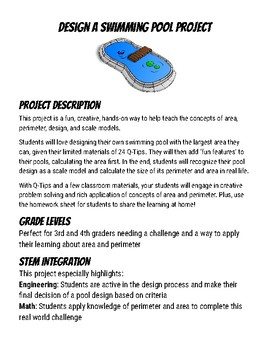 Design a Swimming Pool STEM Project