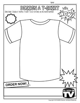 Design a T-Shirt and Infomercial