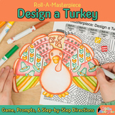 Thanksgiving Turkey in Disguise Game: Art Sub Plans, Writing Prompts, & Template