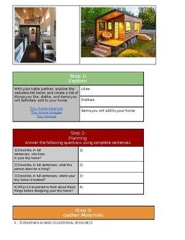 Design a Tiny Home -- Project based learning w/ full lesson plans