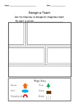 Design a Town- Students Create a Map