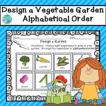 Design a Vegetable Garden Alphabetical Order Cut & Paste Activity
