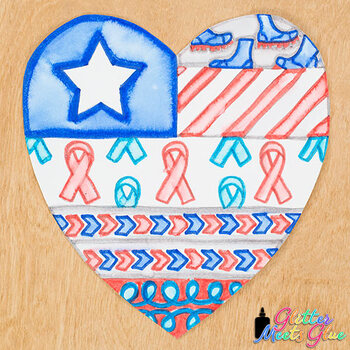 Veteran's Day Activity: Design a Heart Game {Great for Art Sub Plans for May}