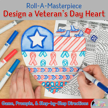 Veterans Day Activity | Design a Heart Game Art Sub Plans & Writing Prompts