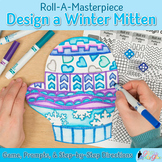 Distance Learning Art Project: Winter Mitten Game, Sub Plans, & Writing Prompts