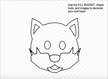 Design a Wolf with Google Drawings!