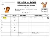 """Design a Zoo!"" Area & Perimeter Activity"