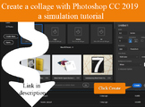 Design a collage with Photoshop CC 2019 - an interactive #nplsimulation
