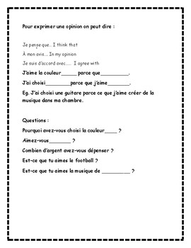 Design a dream bedroom in French Ontario French Curriculum authentic resource