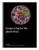 Design a flag for the planet Mars with geometrical shapes