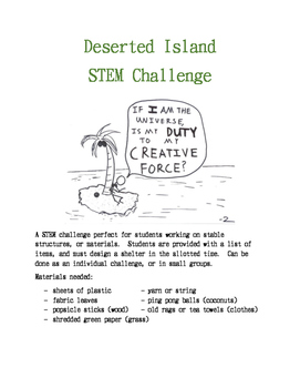 Design a shelter STEM challenge