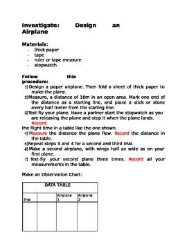 Design an Airplane for 4th Grade