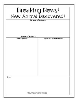 Design an Animal Project/ Animal Adaptations