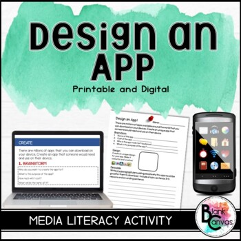 Design an App - Media Literacy and Persuasive Writing