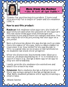 Design an App - Media Literacy and Persuasive Writing *Print and Go*