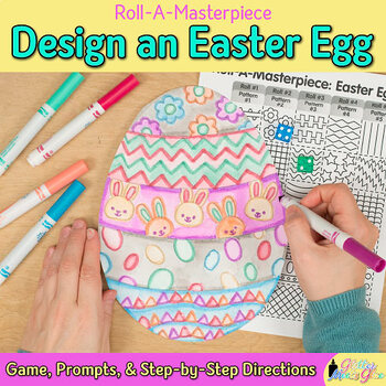Design an Easter Egg Game | Spring Activities and Art Sub Plans for April Fun