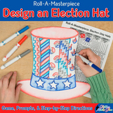 Design an Election Day Hat Game: Art Activity, Art Sub Plan, & Writing Prompts