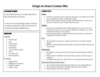 Design an Insect Lesson