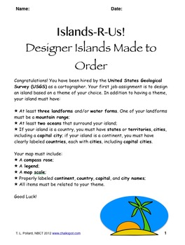 Design an Island: Geography Project