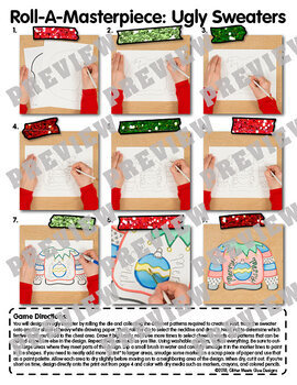 Christmas Activity: Design an Ugly Sweater Game, Art Sub Plan, & Writing Prompts
