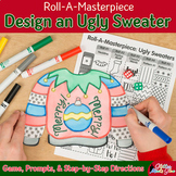 Christmas Activities: Ugly Sweater Art Game & Writing Prompt Distance Learning