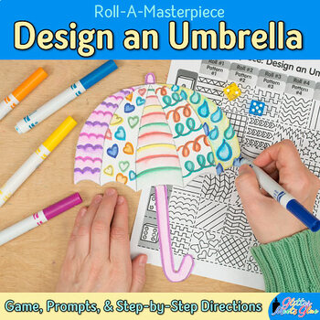 Design an Umbrella Game {Spring Activities and Art Sub Plans for April}