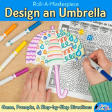 First Day of Spring: Design an Umbrella Game, Art Sub Plans, & Writing Prompts